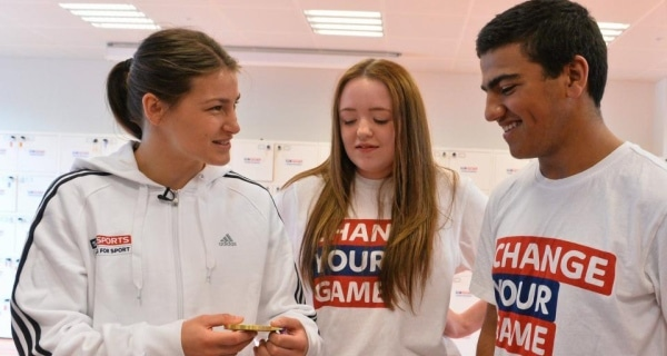 Taylor in Sky Sports Schools Initiative