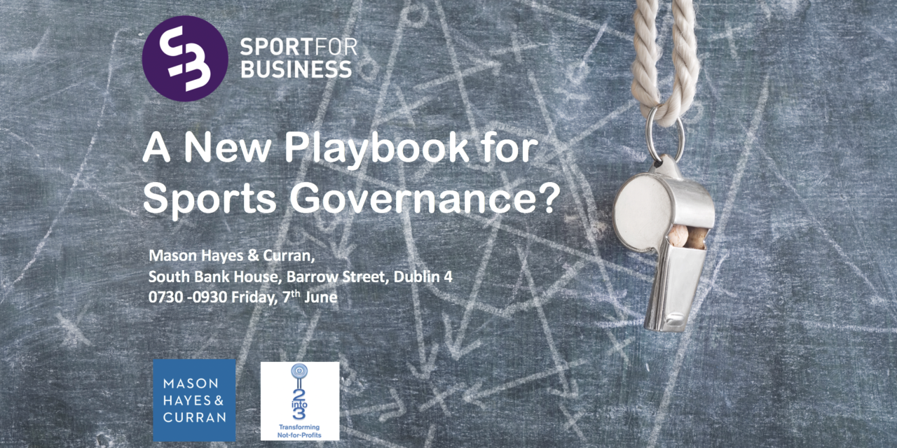 A New Playbook for Governance?