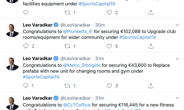 Sports Capital Grants Being Announced Live