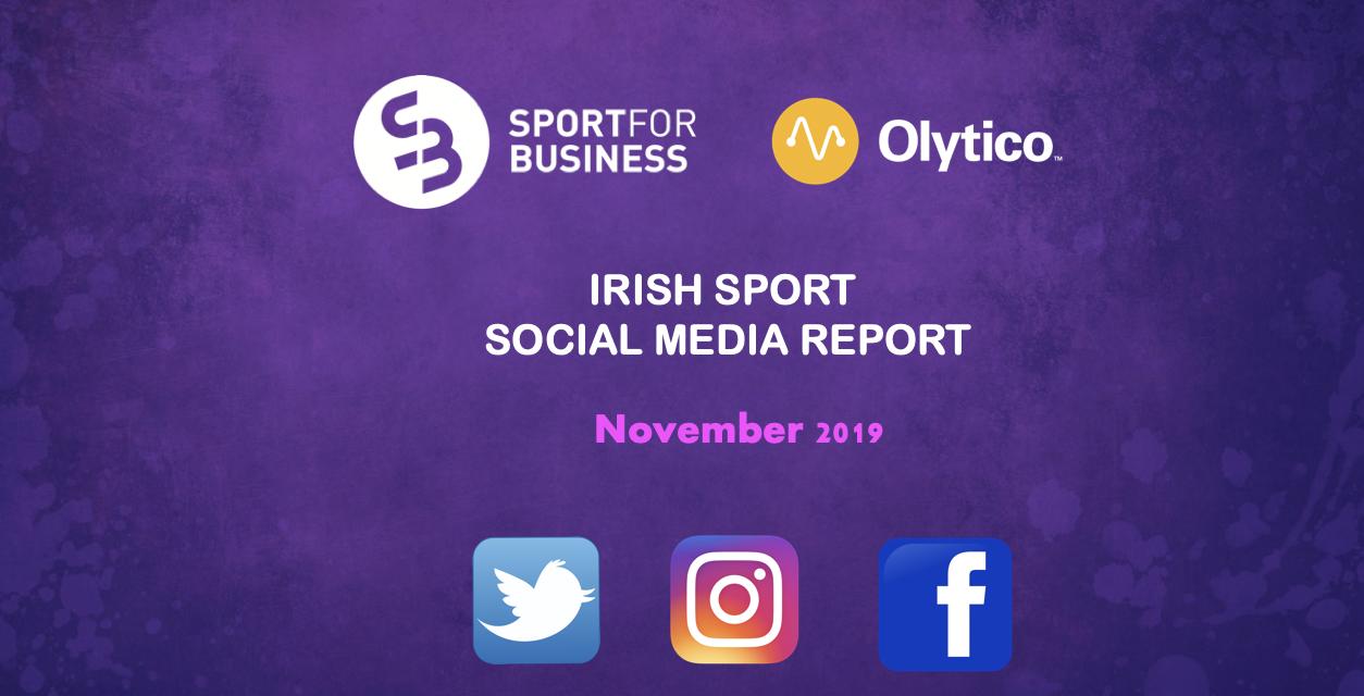 Irish Sport Social Media Report – November 2019