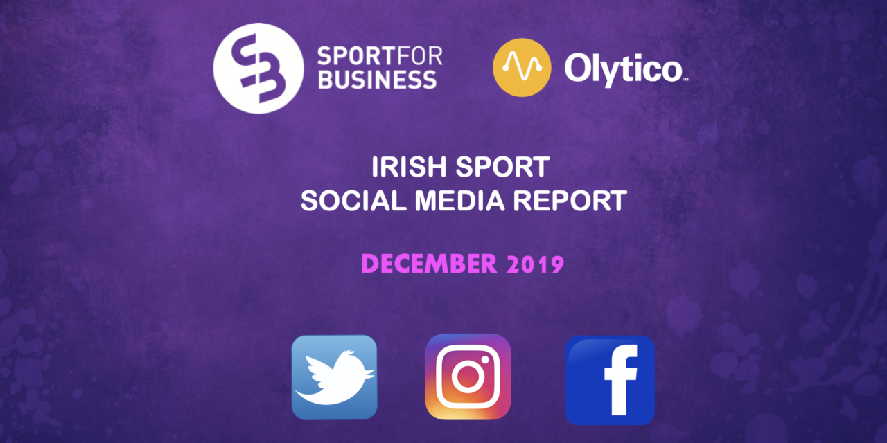 Irish Sport on Social Media – December 2019
