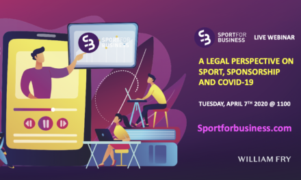 Live Webinar – A Legal Perspective on Sport, Sponsorship and COVID-19