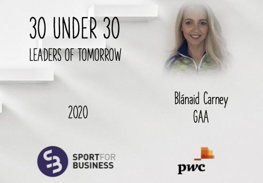 Sport for Business 30 Under 30 – Blánaid Carney