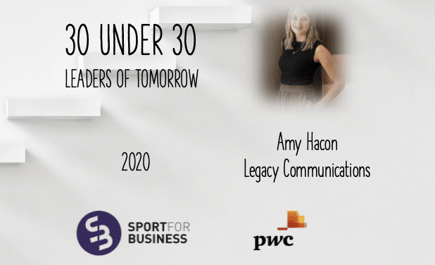 Sport for Business 30 Under 30 – Amy Hacon