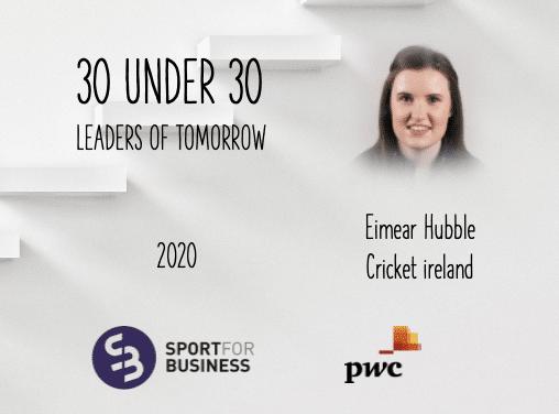 Sport for Business 30 under 30 – Eimear Hubble