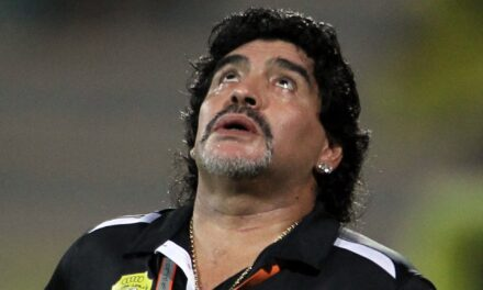 Close Up with Maradona in Dubai