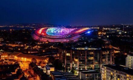 Aviva Stadium Lights Up for Pride