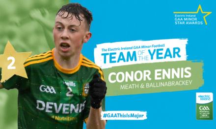 Ennis Named as Electric Ireland Minor Footballer of 2021