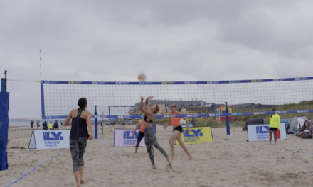 Volleyball Catches the Eye on Bettystown Beach